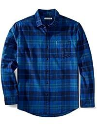 Amazon Essentials Camicia Regular in Flanella a Manica Lunga Uomo