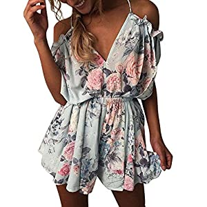 Beachwear,BaZhaHei 2019 Womens Summer Holiday Mini Playsuit Ladies Jumpsuit Beach Shorts Mini Dress Beach Slim Pants Women Jumpsuit Shorts Party Dress Tops Skirts Sundress Rompers