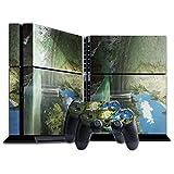 Landschaften 10059, Wasserfall, Designfolie Sticker Skin Aufkleber Schutzfolie mit Farbenfrohem Design für Playstation 4 CUH 1200
