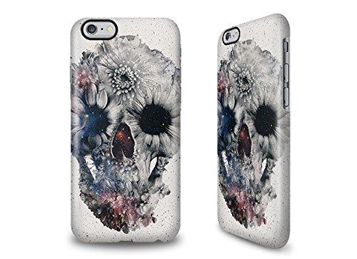 iPhone 6s Hülle mit Ali Gulec Design - Gardening Floral Skull 2