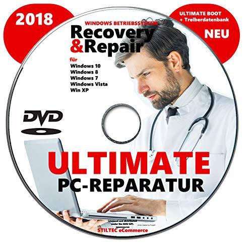 Preisvergleich Produktbild Recovery & Repair CD DVD für Windows 10 & 7 & 8 + Vista + XP PC REPARATUR Fährt jeden Rechner wieder hoch ! NEU