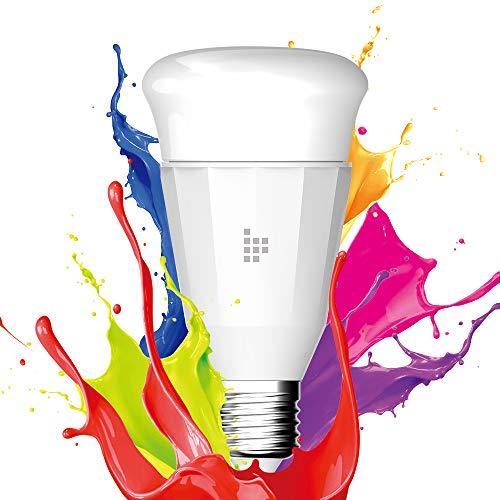 Tronsmart Smarte WLAN Alexa Glühbirne mit E27 Sockel, 9W Alexa Lampen dimmbar Birne warmweiß bis RGB (2700K - 6500K) Kompatibel mit Alexa (Echo, Echo Dot) Google Home