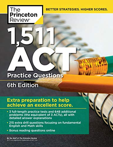 1,471 ACT Practice Questions (College Test Prep)