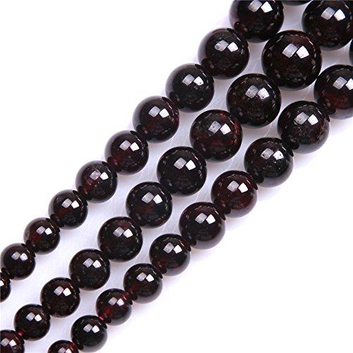 Shgbeads Grenat Pierre précieuse Courroie Perles Naturelles œil Forme 5x 8mm Crystal Energy Pierre pouvoir de guérison pour la confection de bijoux 38,1cm, 4-12MM Red, 4-12MM