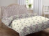 #2: AURAVE Multicolor Floral Design Pattern Reversible Premium Cotton Duvet Cover/Quilt Cover -Single Size