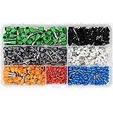 Idealeben 600pcs Terminales cables electricos - Multi-tamaño Terminal para Cableado Eléctrico para Cables Conector Aislante de Cable con Caja Plástica ( Multicolor )