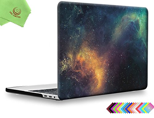 UESWILL MacBook Pro 13 Zoll Hülle Modell A1989/A1706/A1708, Galaxy Pattern Hard Case Cover für MacBook Pro 13 Zoll mit/ohne Touch Bar, Nebula/Green Pattern Hard Case Cover