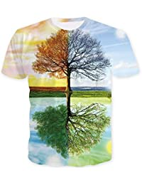 ISAAC ENGLAND Tree T Shirt Hombres Playa 3D Sunset Paisaje Camisetas Verano Harajuku Coconut tee Tops