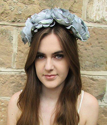 Grand Gris Pivoine Fleur Bandeau cheveux Couronne rose BIG/festival/style bohème Motif floral Z92 * * * * * * * * exclusivement vendu par – Beauté * * * * * * * *