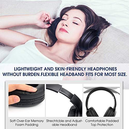 SoundPEATS Bluetooth Kopfhörer Over Ear Kopfhörer 20 Stunden Spieldauer kabellos & 3,5-mm-Audioeingang on Ear Headset Kabelgebundene Kopfhörer Bass Stereo Mikrofon Kompatibel für Samsung/iPhone/Huawei - 3
