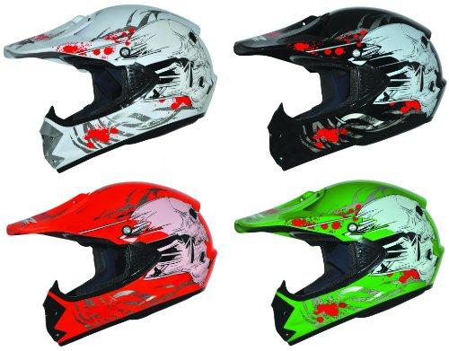 ATO Kids Pro Kinder Crosshelm Grün Größe: S 55-56cm Kinderhelm Kinder Cross BMX MX Enduro Helm -