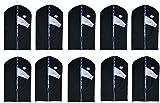 Lot de 10housses pour vêtement avec fenêtre - env. 100x 60cm