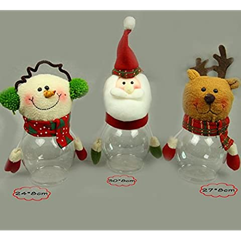 Idee regali di Natale pupazzo di neve candy jar per il contenitore di regalo Natale scatola regalo di anziani decorazioni cioccolato ornamento di Natale,Natale verde vecchio