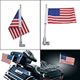 Motorrad Flagge Pole Gepäck Rack Vertikale American für Honda Goldwing GL18002001–2012