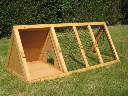 BUNNY BUSINESS Spitzer Laufstall mit Gehäuse, für Kaninchen°/°Meerschweinchen, 1,20°m - 3