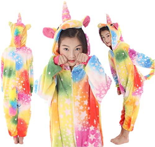 eBoutik Ecommerce Trade Ltd Einhorn-Kostüm für Mädchen, Damen, Jungen, Loungewear, Kostüm, Kostüm, Mehrfarbig mit Sternen, Alter 8-10 Jahre (Kind Alte Dame Kostüm)