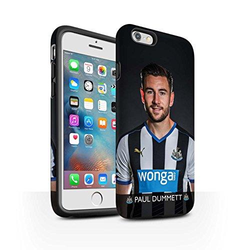 Officiel Newcastle United FC Coque / Matte Robuste Antichoc Etui pour Apple iPhone 6S+/Plus / Pack 25pcs Design / NUFC Joueur Football 15/16 Collection Dummett