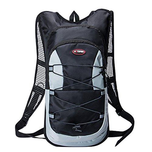 YiJee Wasserdicht Fahrrad Schulter Rucksack Wasser Reisetasche für Radsport Outdoor Reiten Bergsteigen Hydration 12L Schwarz