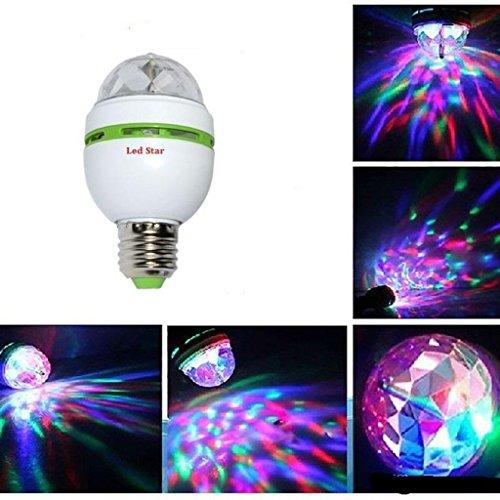 E27 RGB LED Discokugel 3W Rotierend Disco Party Glühbirne Glühlampe Lichteffekt