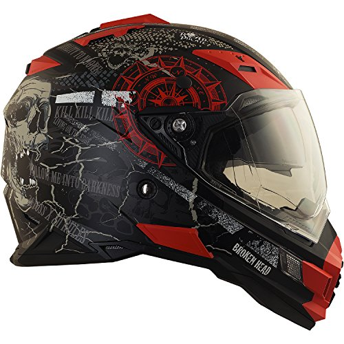 Broken Head Road Pirate Cross-Helm mit Visier | Endurohelm - MX Motocross Helm mit Sonnenblende - Quad-Helm Größe M (57-58 cm) - 6