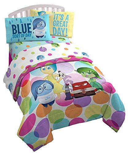 Disney Pixar Inside Out Dots Twin Bedding Sheet Set