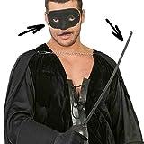 Zorro Bandit Sword & Mask Set Foil Rapier Musketeer Fancy Dress Accessory Set