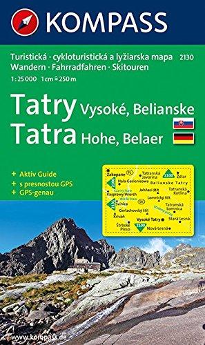 Hohe Tatra/ Vysoke Tatry: 1 : 25 000: Belaer Tatra. Wander-, Bike- und Skitourenkarte. D/SK. GPS-genau