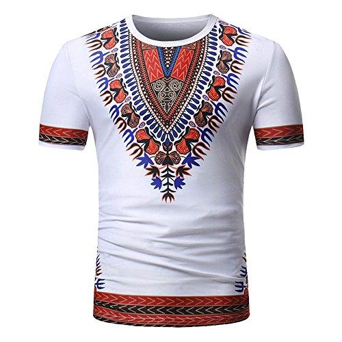 Weant Manica Corta Tshirt Camicia Uomo Polo Unisex Hip Hop Africano Dashiki  Girocollo Camicia T- 3b211925de0