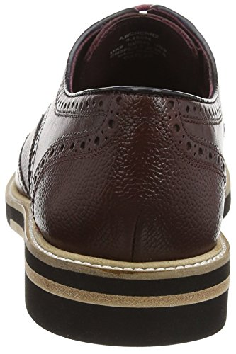 Ted Baker Archerr 2, Brogues Homme Rouge (Dark Red)