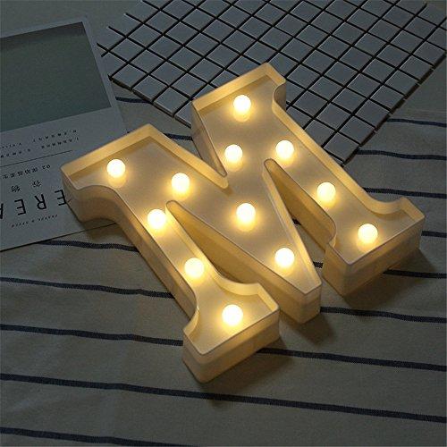 t Licht Weiß LED Nachtlicht Briefe Kunststoff Lampen Stehen Hängend Beleuchtung zum Hochzeit Halloween Weihnachten Party Zuhause Dekoration (M) ()