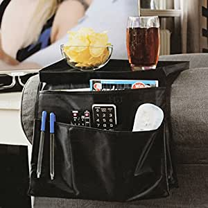 6 pocket arm rest organiser armrest chair couch sofa tv remote control holder - Porta telecomando divano ...