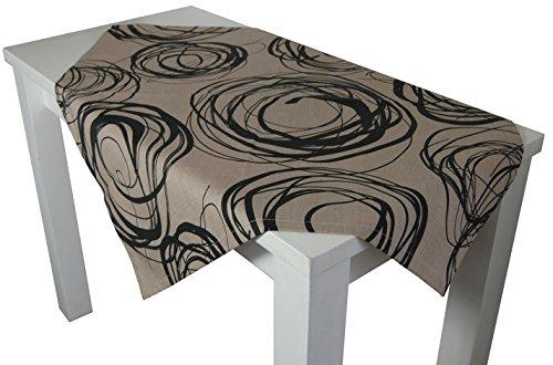 beties Mystik Mitteldecke ca. 80x80 cm in interessanter Größenauswahl hochwertig & angenehm 100% Baumwolle Farbe Toffee-Schwarz