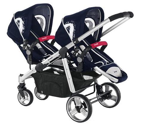 Brevi OVO Twin Stroller (Navy)