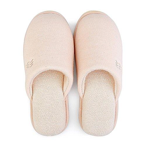 Dautomne 36 Scivoloso 34 Da 37 Dintérieur Cotone Zhirong Pantaloni Rosa colore Invernali Donne Formato Di Chiaro E Pantofole 38 Uomo Pqw848