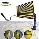WHDZ LED Doppelpaneel PDR Streifen Line Board Paintless Dent Reparatur Tool Kit Lampe Reflektierende Borde 5v USB PDR