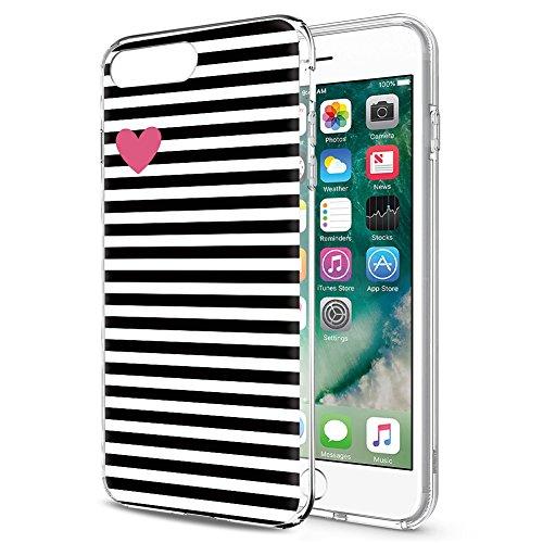 iPhone SE Hülle, iPhone 5s / 5 Hülle, Eouine Ultra Slim Soft TPU Muster Schutzhülle Silikon Stoßfest Bumper Case Cover für Apple iPhone SE / 5s / 5 (4 Zoll) Smartphone (Streifen Schwarz) (Se-streifen)