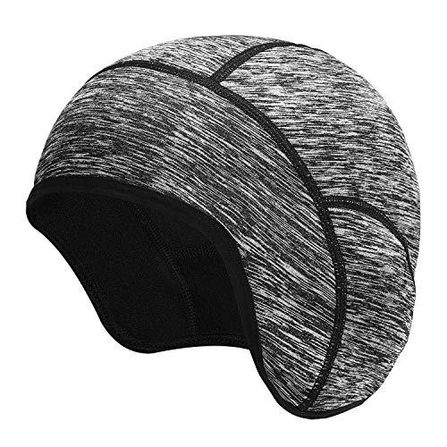 KUTOOK Berretto Sottocasco Antivento Anti Sudore elastico Ideale per Ciclismo Moto Corsa Unisex(Grigio)