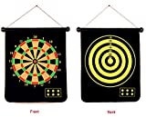 #3: SLYK Magnetic Dart Board Set (17inch) Double Sided with 6 Needles