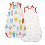 Grobag Spotty Bear Wash and Wear Twin Pack, 2.5 Tog, 0-6 Months