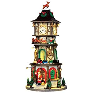 Lemax village de no l tour horloge de no l for Decoration de noel amazon
