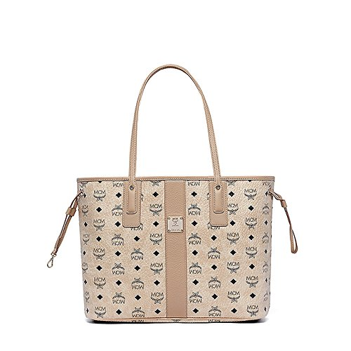 MCM Damen Reversible Shopper Liz Medium Beige (Shopper Reversible)