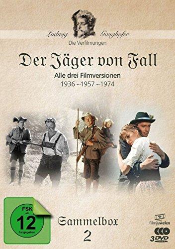 Der Jäger von Fall (1936, 1957, 1974) - Die Ganghofer Verfilmungen - Sammelbox 2 (Filmjuwelen) [3 DVDs]