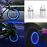 Luckycat Accesorios para automóviles Accesorios para Bicicletas Neon Blue Strobe LED Válvula para neumáticos Caps 2PC (Azul)