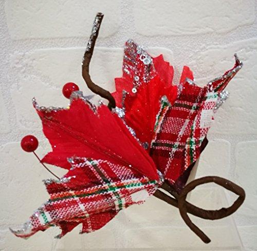 Stern von Schottischen Weihnachten 32cm Dekoration Weihnachtsbaum -