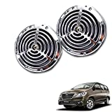 #10: Vheelocityin Small Size Silver Grill Horn (Set of 2) For Toyota Innova