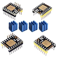 KINGPRINT TMC2130 V3.0 DIY StepStick Disque dur silencieux avec radiateur pour carte de commande d'imprimante 3D (4 pcs)