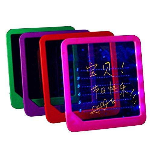 NUOLUX Led Tablero de escritura de mensajes Intermitente iluminado Tablero borrable Led Tablero de luz de visualización para bares Tiendas