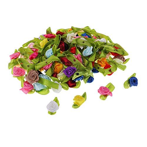 B Baosity 100 Stücke Mini Künstliche Blume Kunstpflanze Kunstblume Künstliche Kunst Rose Blüten...