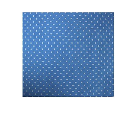 piccolo blu a pois in tessuto di cotone mestiere della stampa Ð 1/2 Metro