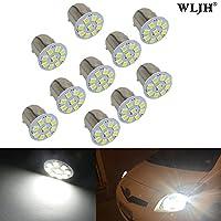 WLJH 10pcs 1157 2057 12357 BAY15d lampadine LED Lighht 3528 - 9SMD 24V 1W Xenon bianco per computer Back up Reverse luci di coda del freno